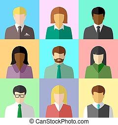 multicultural, グループ, 人々