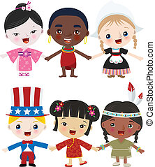 Multicultural children together