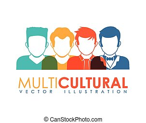 multicultural design, vector illustration eps10 graphic