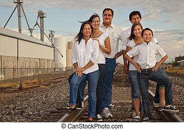 Multicultural Family Portrait