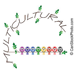 Multicultural twig text representing diversity in society