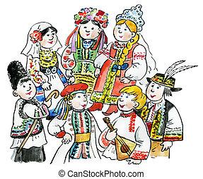 multiculturel, gosses