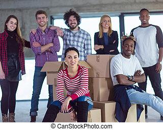 multiethnic , αρμοδιότητα ακόλουθοι , θέση , δομή , πορτραίτο