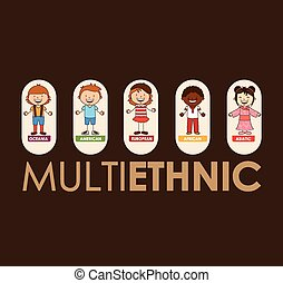multiethnic community design, vector illustration eps10...