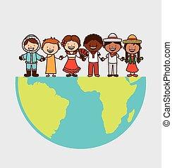 multiethnic community design, vector illustration eps10...