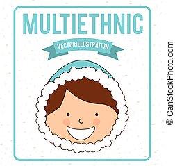 multiethnic design , vector illustration