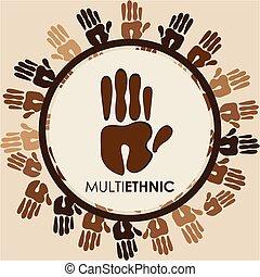 multiethnic diversity design, vector illustration eps10...