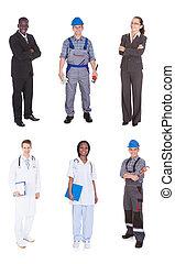multiethnic, gens, à, divers, métiers