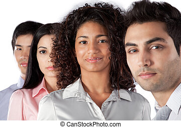 Multiethnic Group of Businesspeople - Multiethnic group of...
