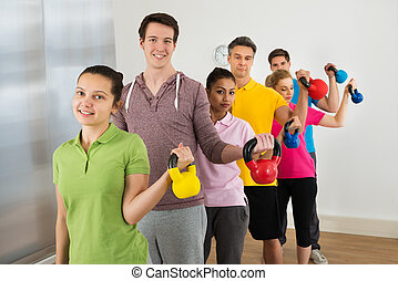 Multiethnic Group Of People  Exercising