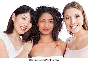 Multiethnic Group of Woman - Multiethnic group of young ...
