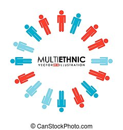 multiethnic people design, vector illustration eps10 graphic...