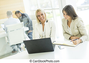 Multiethnic people working in the office