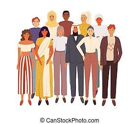 multiethnic, pessoas., grupo