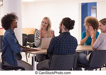 Multiethnic startup business team on meeting