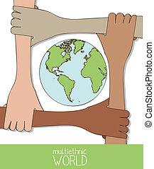 multiethnic, trabalho equipe