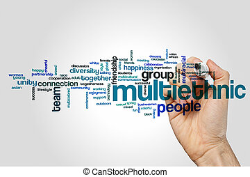 Multiethnic word cloud