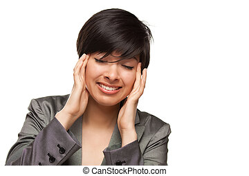 Multiethnic Young Adult Woman with Headache