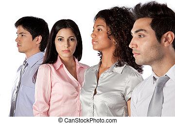 multiethnische gruppe, von, businesspeople