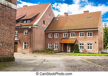 Old multifamily house in Reszel - Poland.