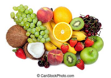 Multifruit isolated on a white background