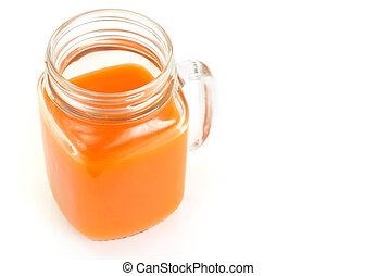 multifruit., zdrowy, jabłko, pomarańcza, sok, food:, dynia