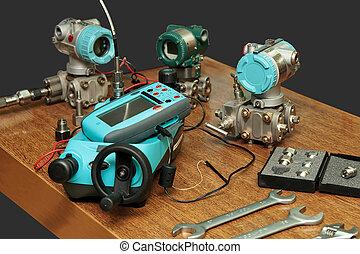 Checking, setting differential sensors multifunction calibrator. The general plan.