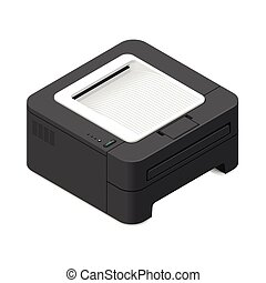 Multifunction office device detailed isometric icon vector...