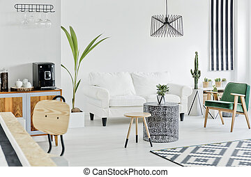 Multifunctional bright flat designed in nordic style