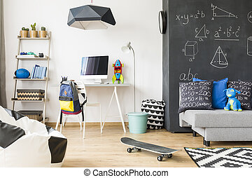 Multifunctional home space for a child - Spacious kid room ...