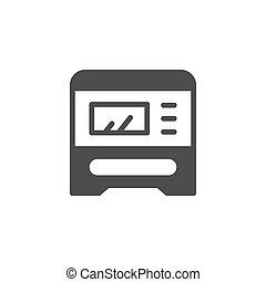 multifunctional, icono, glyph, dispositivo, impresión