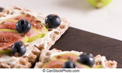 Multigrain crispread appetizer - Canape or crostini with...