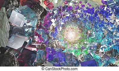 Crystal cavern - Multihued Crystal cavern