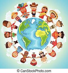 multikulturell, zeichen