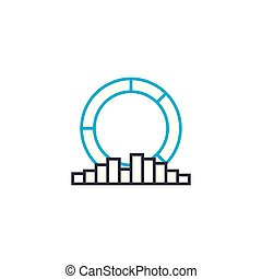 Multilateral analysis vector thin line stroke icon. Multilateral analysis outline illustration, linear sign, symbol concept.