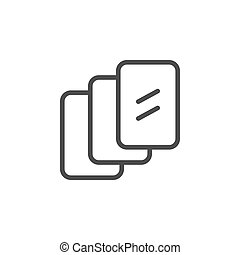 Multilayered screen protection line icon isolated on white background. Protective accessories for device display. Modern technologies to protect smartphone or tablet. Vector illustration