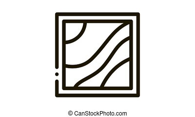 multilevel stretch ceiling Icon Animation. black multilevel stretch ceiling animated icon on white background