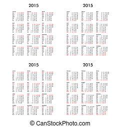 Multilingual 2015 calendar UK DE FR IT - Multilingual 2015...