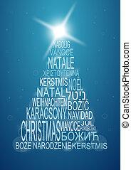 multilingual christmas background