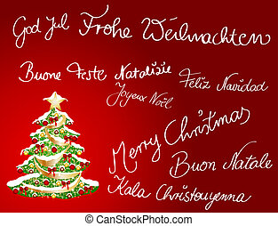 Multilingual Christmas card
