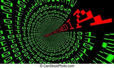 multimédia, données, tunnel