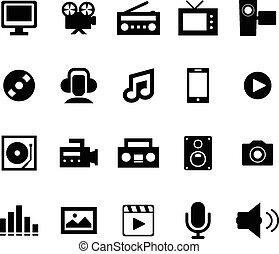 multimédia, icône