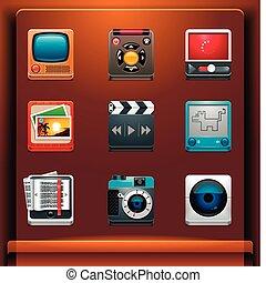 multimédia, icônes