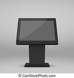multimédia, stand, numérique