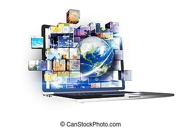 multimédia, technológia