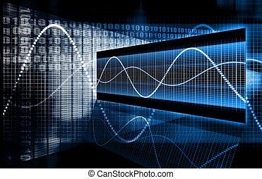 multimédia, technologie, données