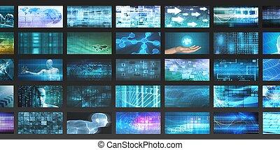 multimédia, technologie
