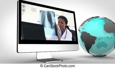 multimédia, vidéo, médecins