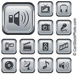 multimedia, botones
