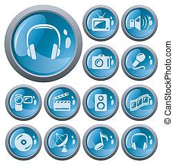 Multimedia buttons - Multimedia button set